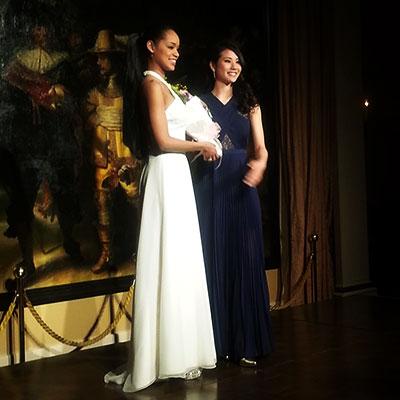 [左] 2015MUJ日本代表:宮本エリアナ磨美子 [右] 2014MUJ日本代表:辻 恵子